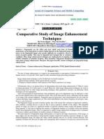 Comparative Study of Image Enhancement Techniques