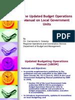 Budget Manual for LGUs