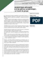 Démarche heuristique pour écrire un article scientifique