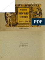 Druggists and Dispensers Practical Show Card Instructor
