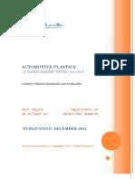 Automotive Plastics - A Global Market Watch, 2011 - 2016 - Broucher