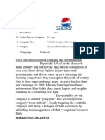 impact of advertisement pepsi on people (survey report)