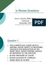 Pediatric Review QUestions