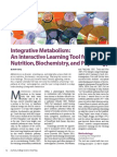 Integrative Metabolism: An Interactive Learning Tool for Nutrition, Biochemistry, and Physiology