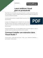 4 extensions pour améliorer Visual Studio et gagner en productivité