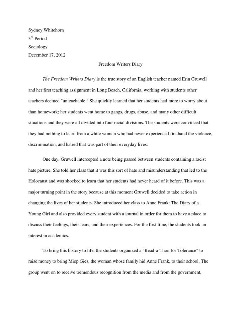 freedom essays