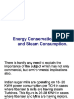 Energy Conservation in Power and Steam Consumption