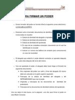 FIRMAR UN PODER(ESPAÑOL)