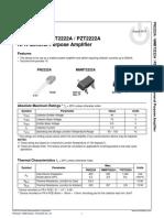 2N2222 NPN Transistor Datasheet