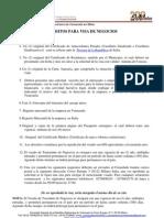 Visa de Negocio (Español)