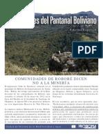 COMUNIDADES DE ROBORÉ DICEN NO A LA MINERÍA