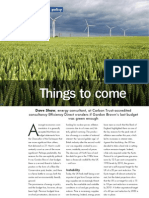 Things to Come - Review of UK Budget from a Green Perspective