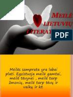 Meilė lietuvių literatūroje