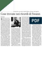 Cose trovate nei ricordi di Swann nel centenario della «Recherche» - il Manifesto 10.01.2013