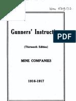 Gunner s Instruction Mine Companies USA 1916