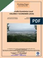 Desarrollo Económico Local. VALORES Y ECONOMIA LOCAL (Es) Local Economic Development. VALUES AND LOCAL ECONOMY (Es) Tokiko Ekonomi Garapena. BALOREAK ETA TOKIKO EKONOMIA (Es)