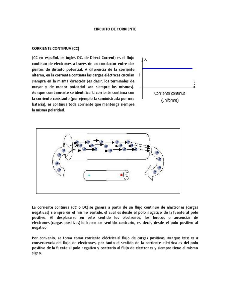 Circuito Cc : Circuito de corriente