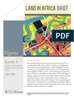 Nigeria Land Markets Nov2012