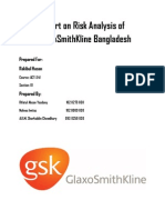 AUDITING- REPORT ON RISK ANALYSIS OF GLAXO SMITH KLINE BANGLADESH