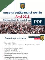 Bugetul Romaniei 2013, propuneri