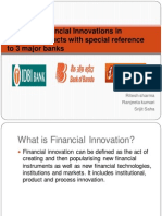 Financial Innovations in Deposit Products