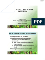 The Policyof Biofuel in Indonesia