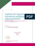 Experiencia pedagógica y experimentación