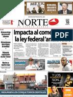 Periodico Norte de Ciudad Juárez 10 de Enero de 2013