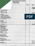Mesa County Democrats' balance sheet