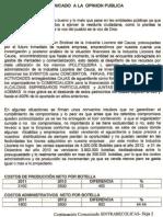 Comunicado Sintrabecolicas Cauca 10-01-2013