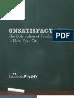 SFNY Unsatisfactory Report