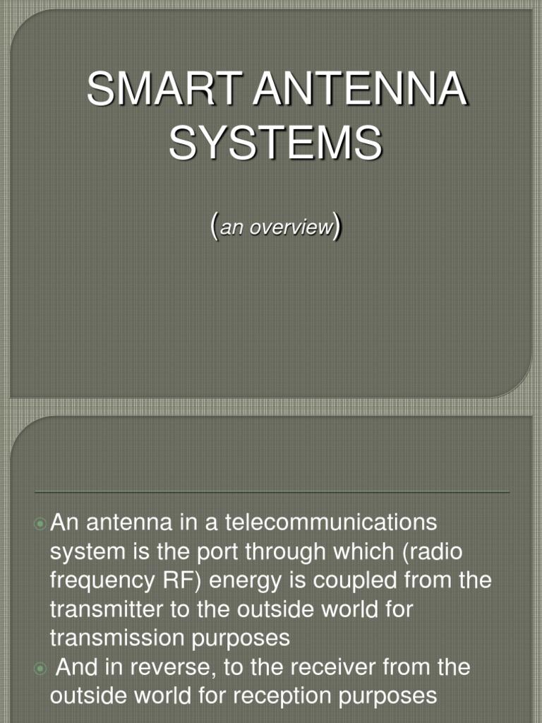 Ppt on smart antennas - Ppt On Smart Antennas 14