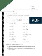 Exercícios Cálculo 1