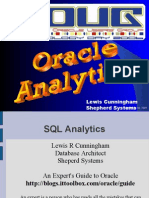 ORacle SQL Analytics