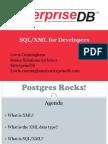 SQL XML For Developers In PostgreSQL