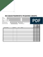 RECADASTRAMENTO DE PEQUENOS GRUPOS E REDES