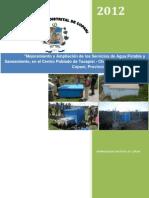 PIP Mejoramiento y Ampliación de los Servicios Agua Potable Tacapisi Challapampa