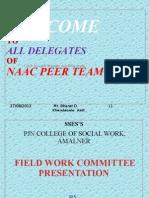 Field work committee presentation