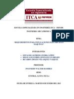 REQUERIMIENTOS PARA INSTALACIONES ELECTRICAS DE MAQUINARIA