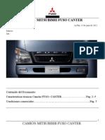 Especificaciones Técnicas Mitsubishi FUSO