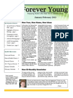 Forever Young Newsletter #1 - January/February 2013
