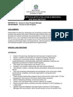 Nueva Vida Outreach Specialist Job Description
