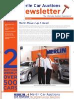 Merlin Car Auctions -  2nd September Newsletter