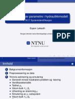Identifisering av parametre i hydraulikkmodell