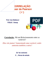 Correlacao e Regressao Prof. Ivan Balducci - FOSJC-Unesp