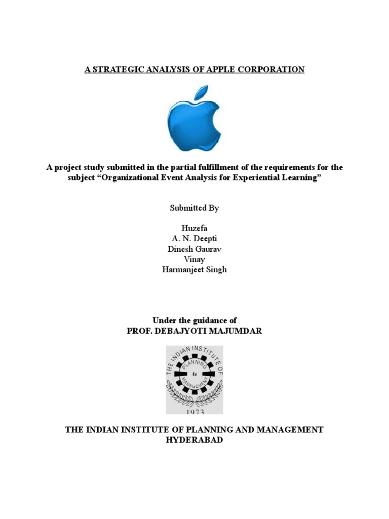 analysis of apple inc business strategic Apple inc, strategic management case analysis gb520 strategic human resource management: unit 1 march 13, 2012 apple inc, strategic management case.