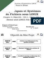 Exposé Système des fichiers  Exploitation LINUX