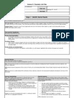 Science 9-Chemistry Unit Plan