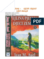 Jean M Auel Ejlina Pjesma Djeci Zemlje Knjiga Prva