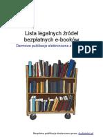 Lista Legalnych Zrodel Bezplatnych Ebookow